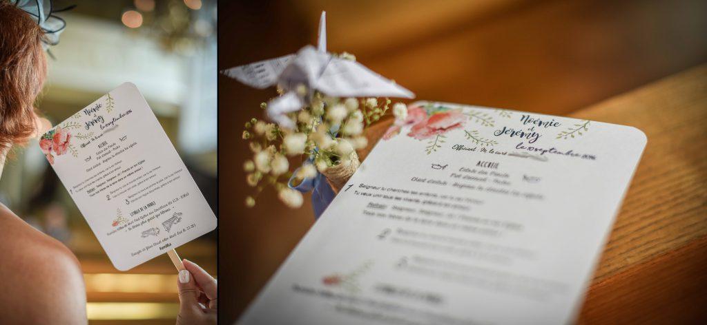 DIY de mes livrets de messe en éventail // Photo : Valentine Poulain Photographie