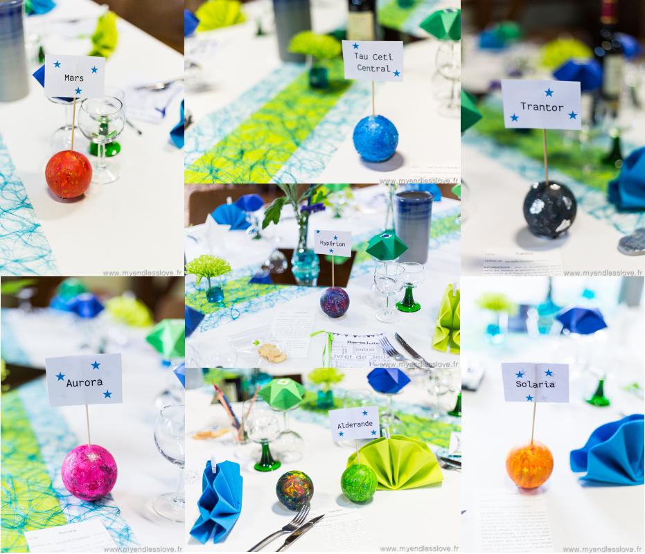 Une décoration thème science-fiction en bleu et vert // Photo : My Endless Love