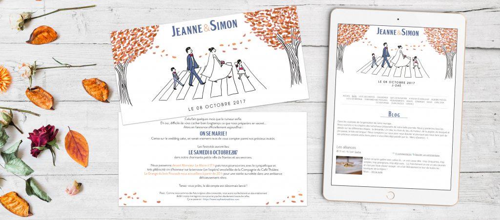 Gagne tes faire-part sur mesure et le design de ton site de mariage avec Petit Mariage entre Amis