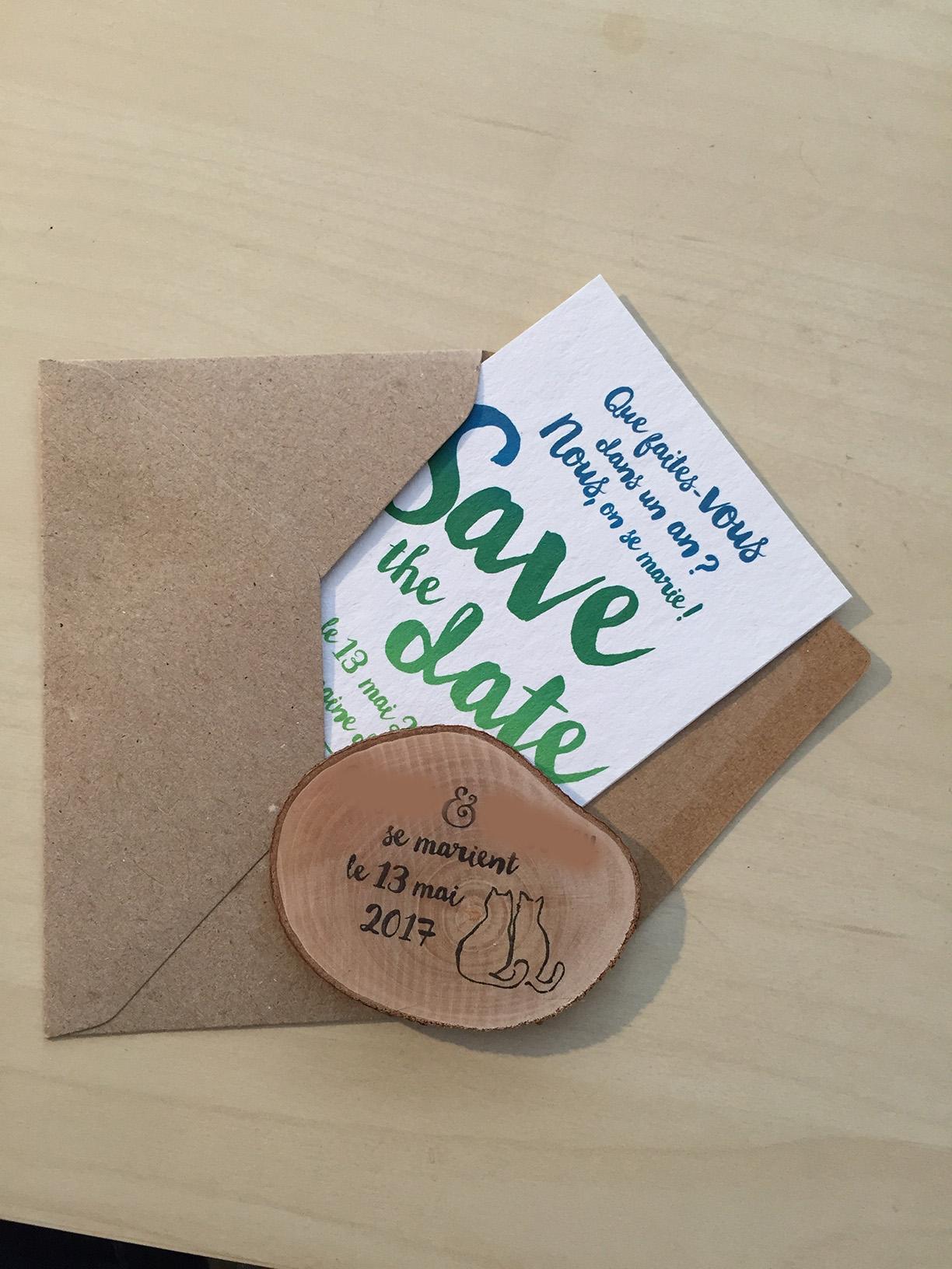 La création de notre save-the-date où comment nous avons mixé green et papier – Partie 2