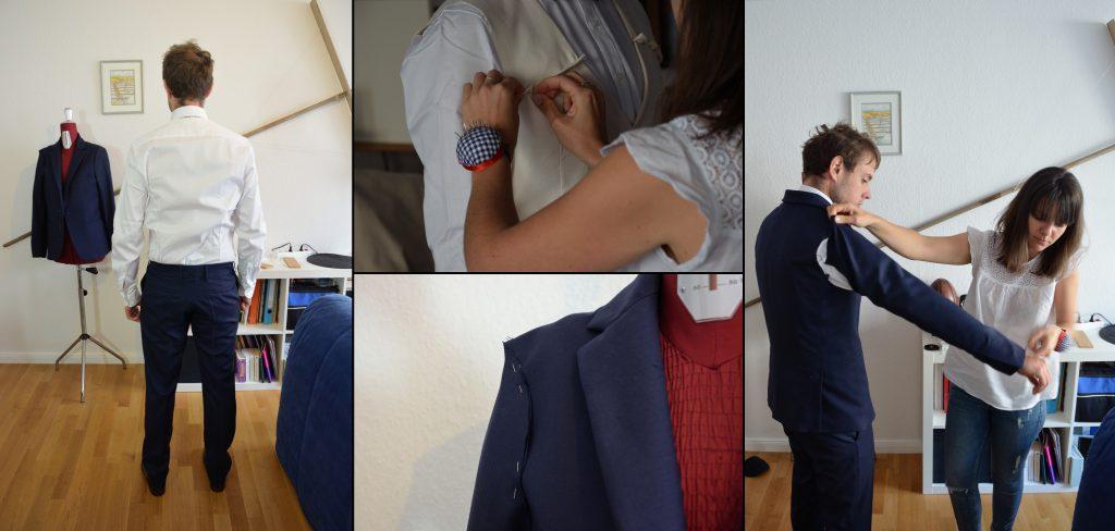 La création du costume du marié sur mesure