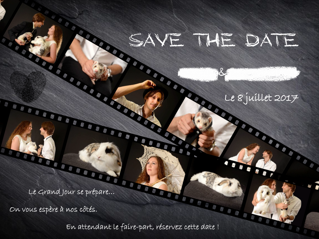 "Notre save-the-date façon ""pellicule de film"""