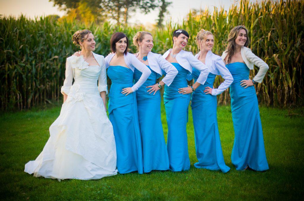 Mon mariage aux notes de turquoise : l'église et la fête !