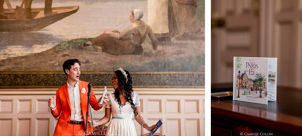 Mariage mint et funky // Photo : Camille Collin