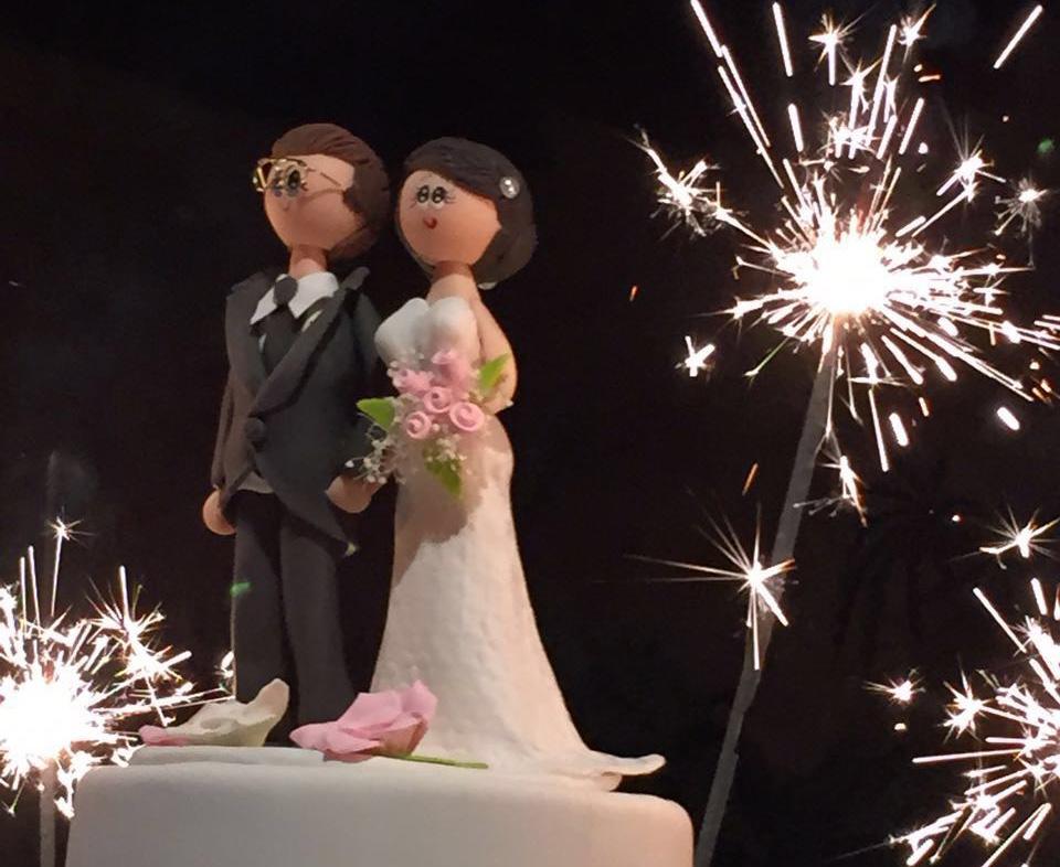 Mon mariage en gris et vert : le wedding cake