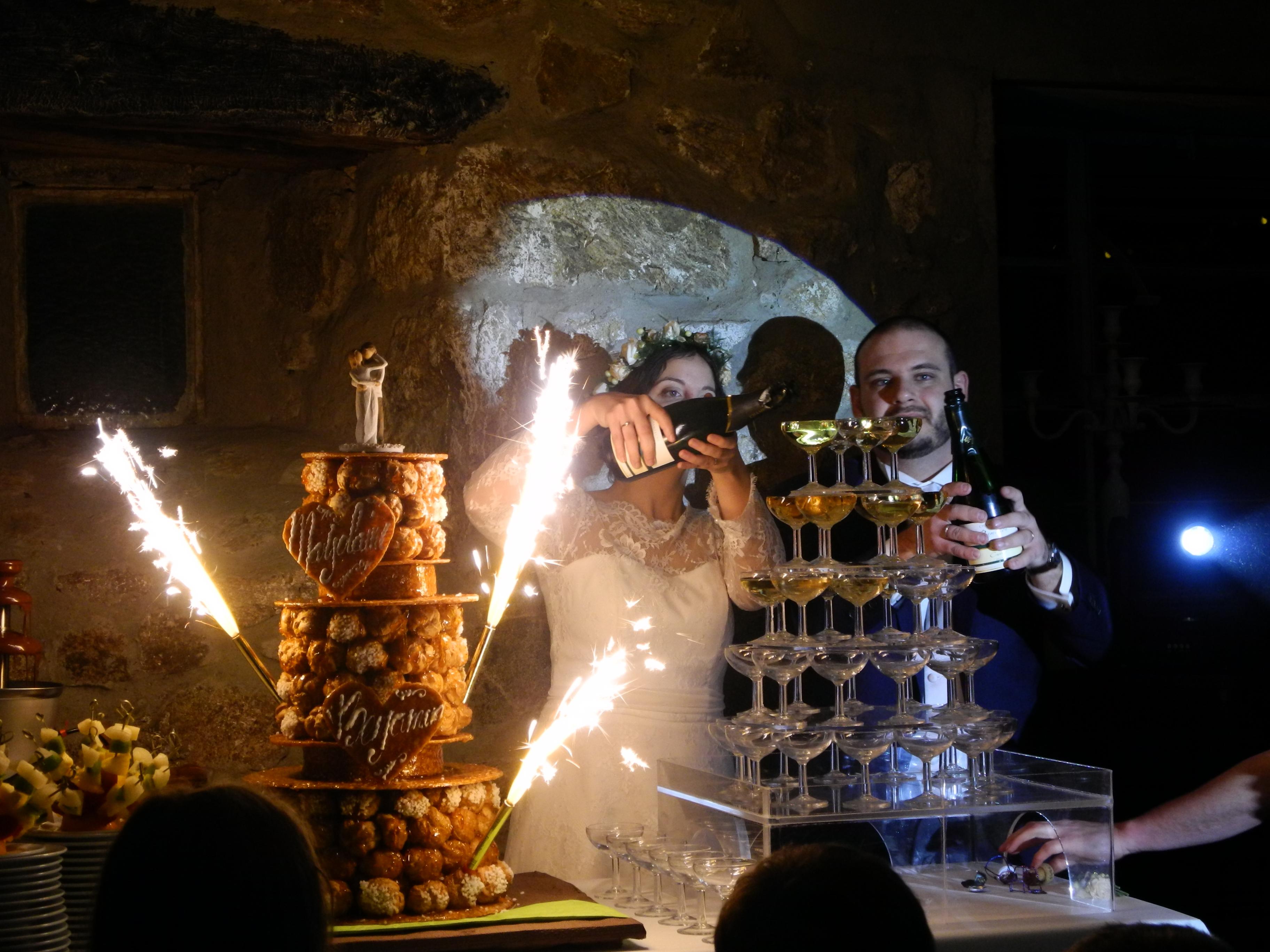 Mon mariage d'hiver à la lueur des bougies : le repas et ses surprises