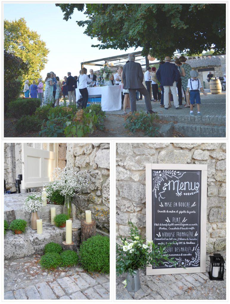 Jazz et photos pendant le vin d'honneur du mariage