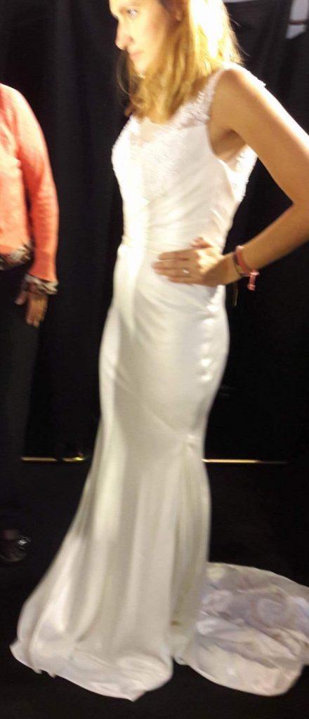 Essayage robe de mariée Mlle Teochew