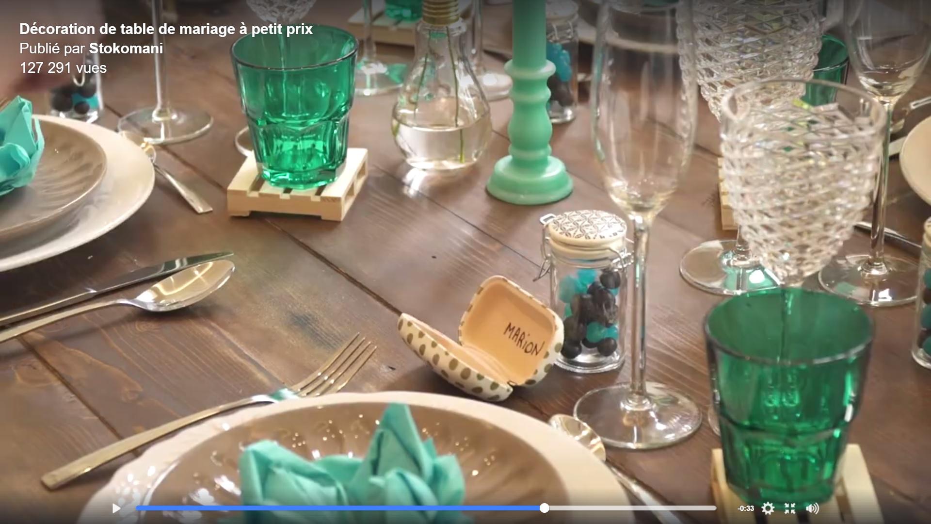 Réaliser une jolie table de mariage chez Stokomani