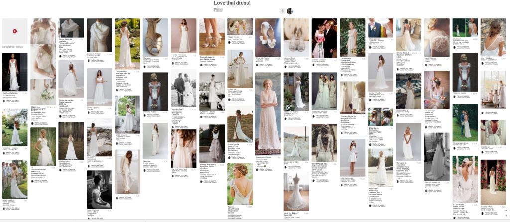 Tableau Pinterest robes de mariée Mlle Moutarde