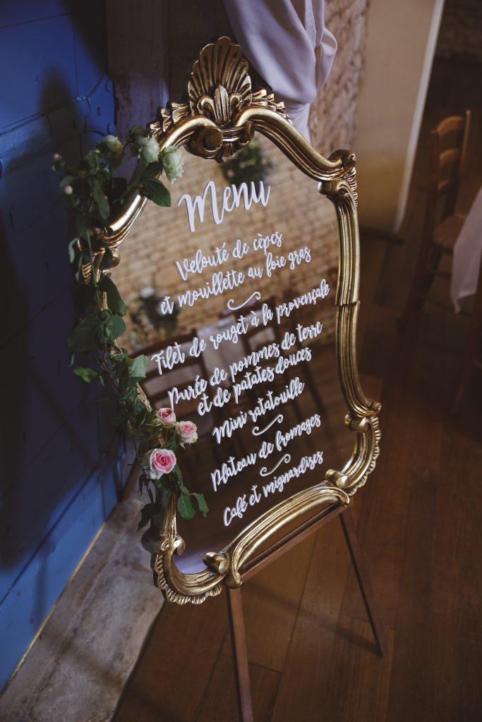Décoration de salle champêtre et vintage // Photo : La Femme Gribouillage