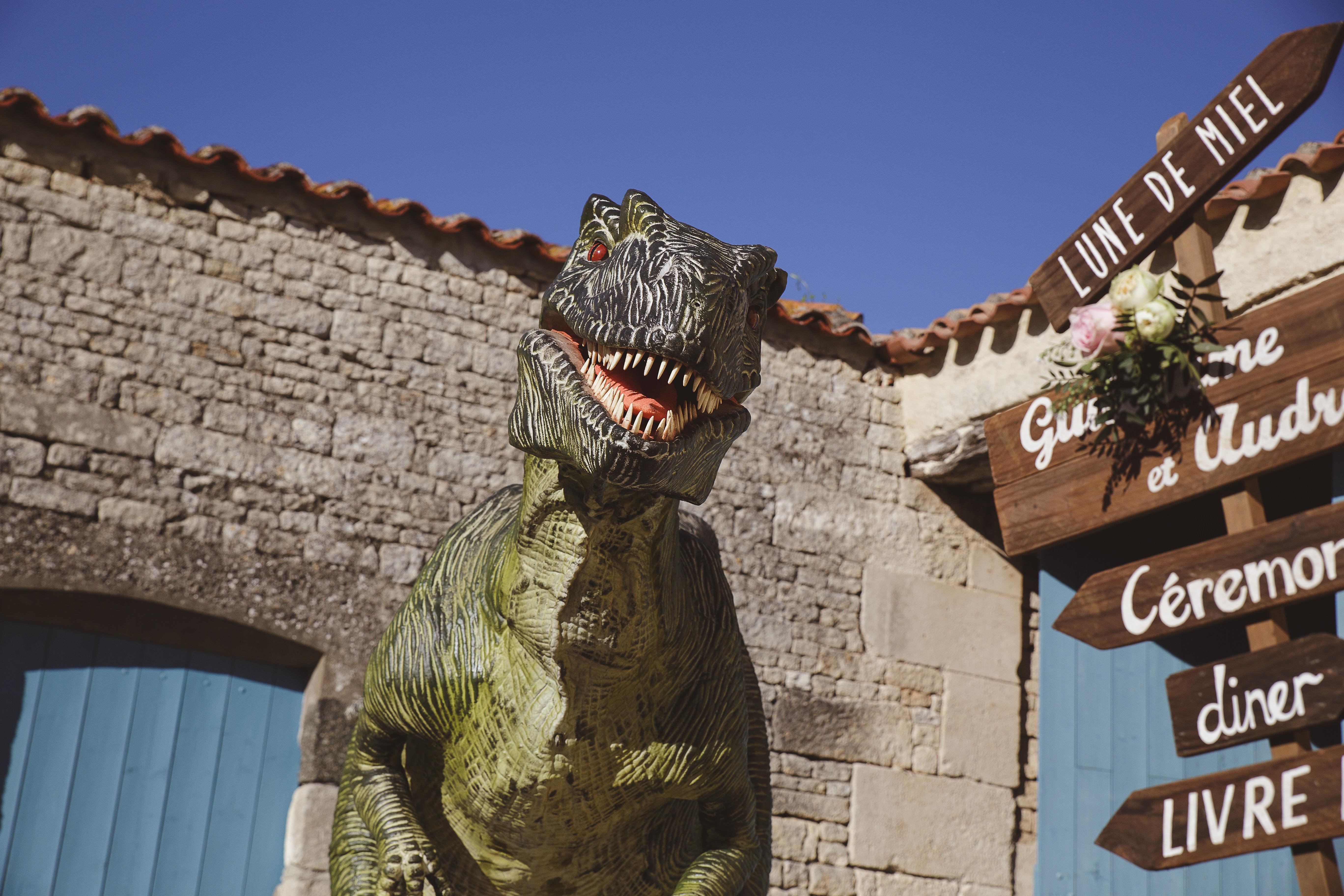 Mon mariage dino-chic : l'attaque du vélociraptor !