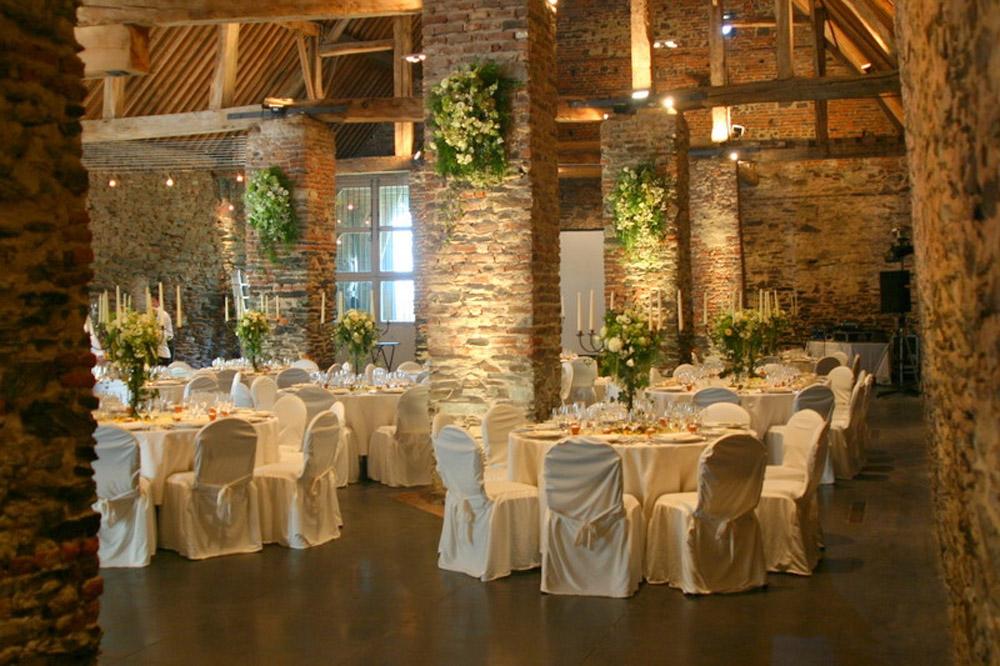 Ferme de Beaurieux : salle de réception mariage Belgique