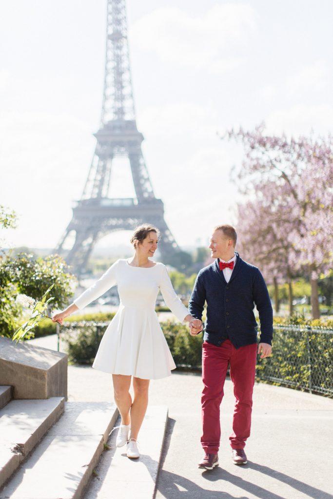 Séance photo d'engagement à Paris // Photo : Samonov Brothers