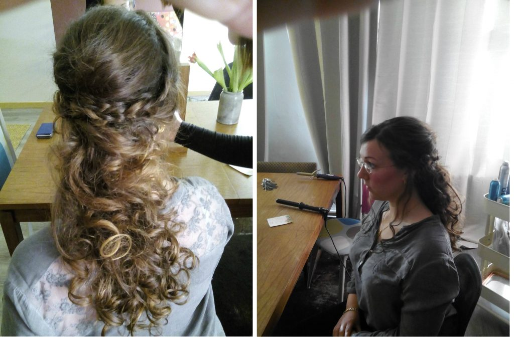 Essai coiffure Mlle Ophrys