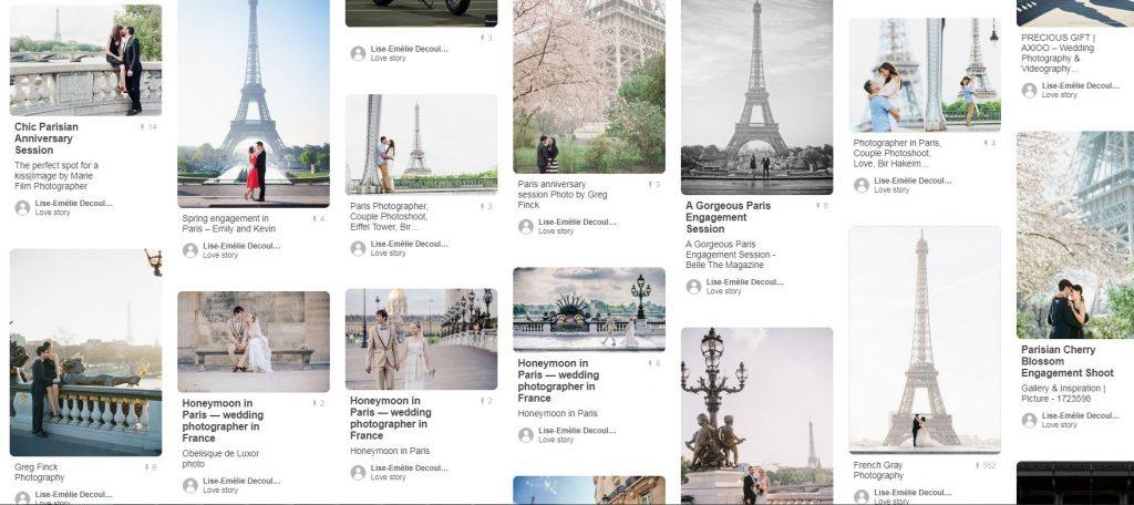 Inspirations séance d'engagement à Paris