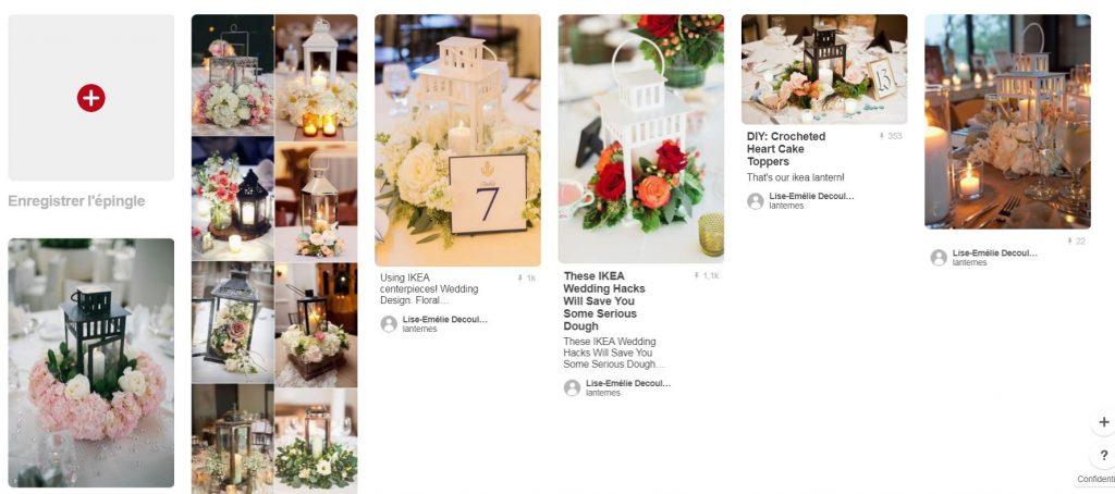 Déco de mariage : lanternes fleuries