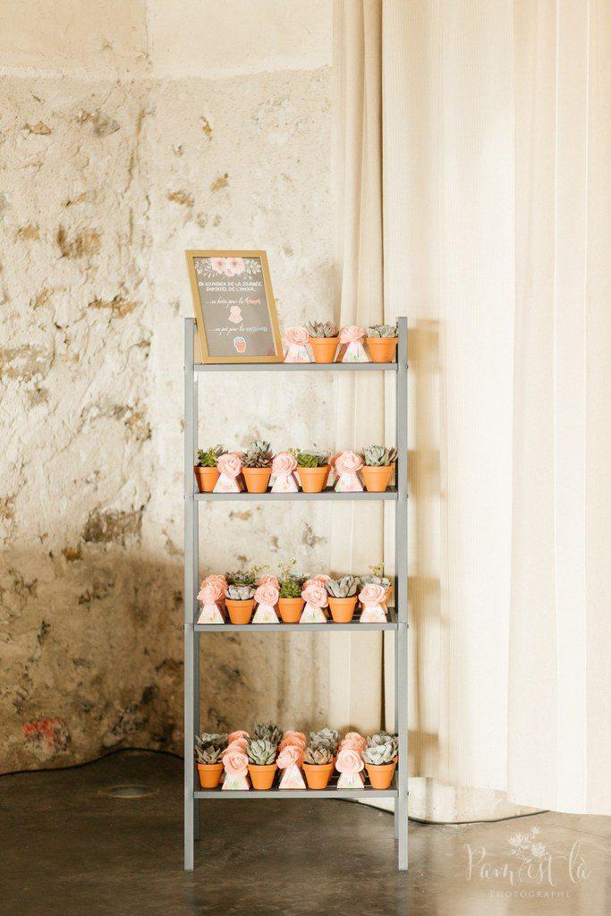 Nos cadeaux invités : plante et dragées // Photo : Pam est là - photographe