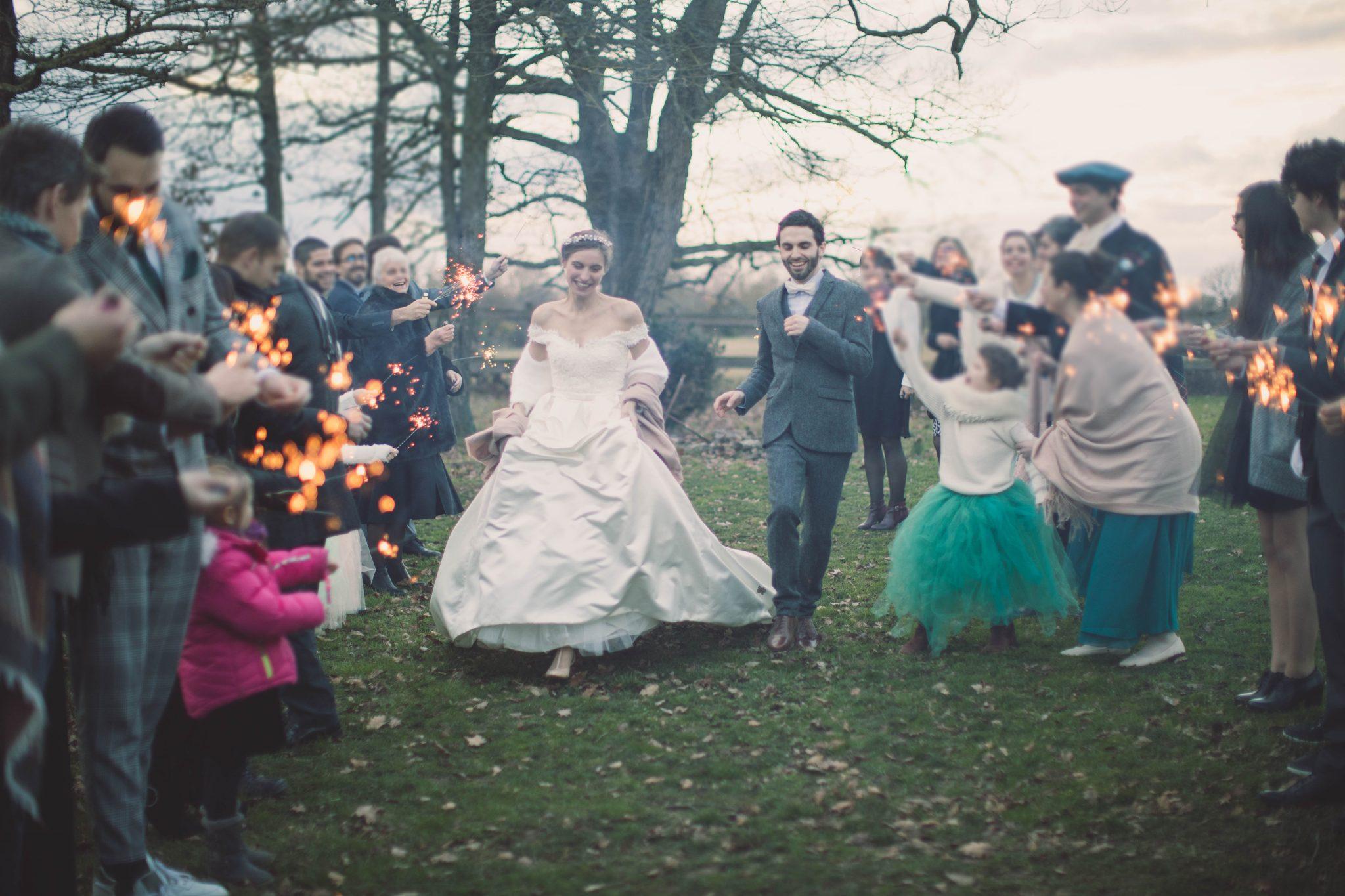 Notre sortie des mariés avec scintillants // Photo : Aude Arnaud