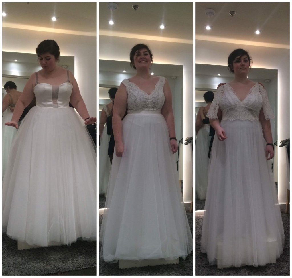 Essayages robes de mariée fluide et bohème grande taille