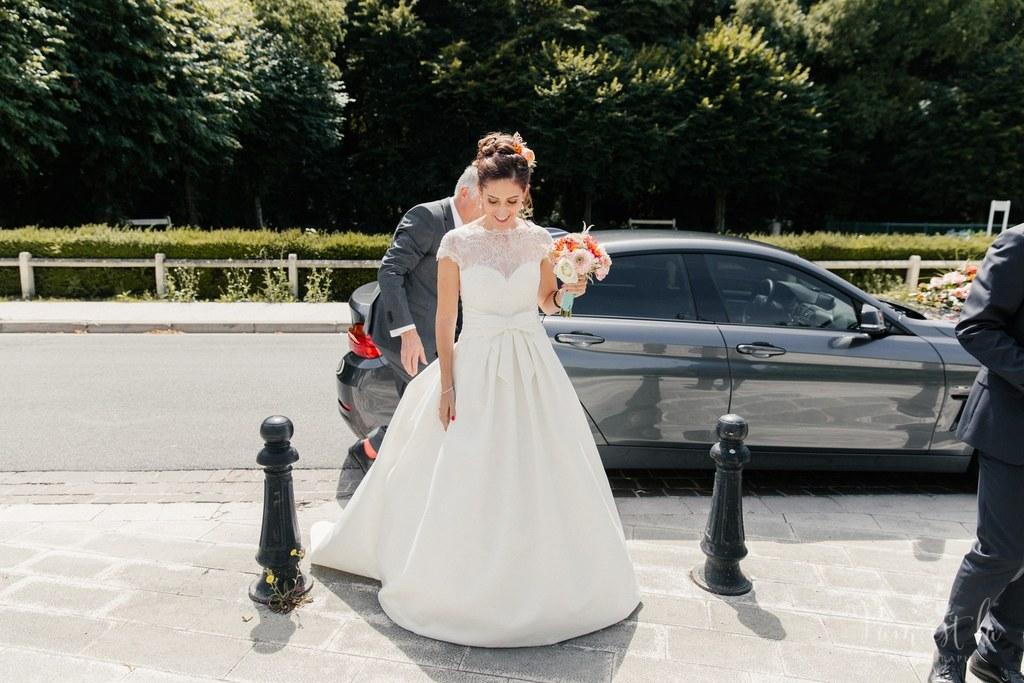 Mon mariage franco-chinois coloré : l'arrivée à l'église