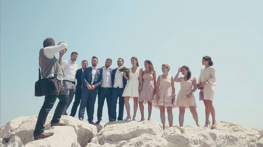 Nos photos après la mairie sur les falaises // Photo : 4life Mariage
