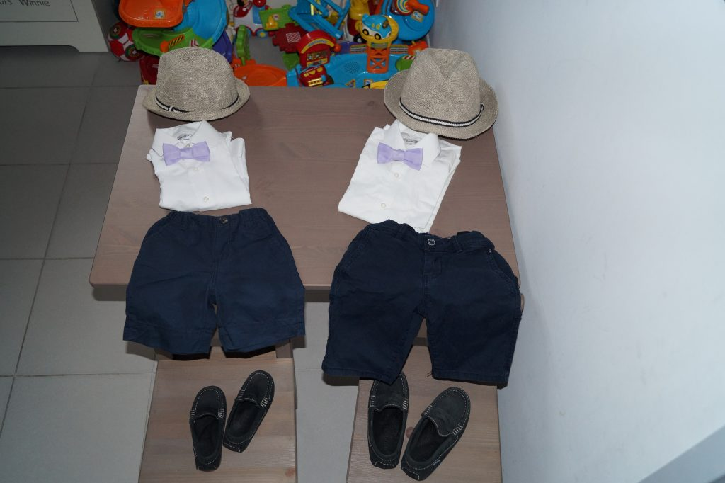 Les tenues des garçons et mes accessoires