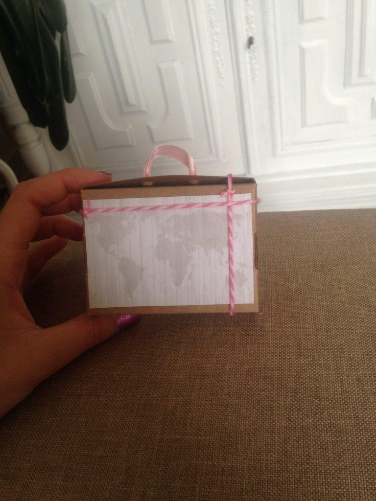 DIY : boîtes à dragées valises