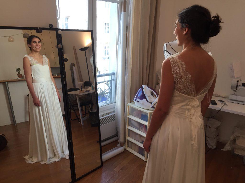 Quand la mariée apprivoise sa robe