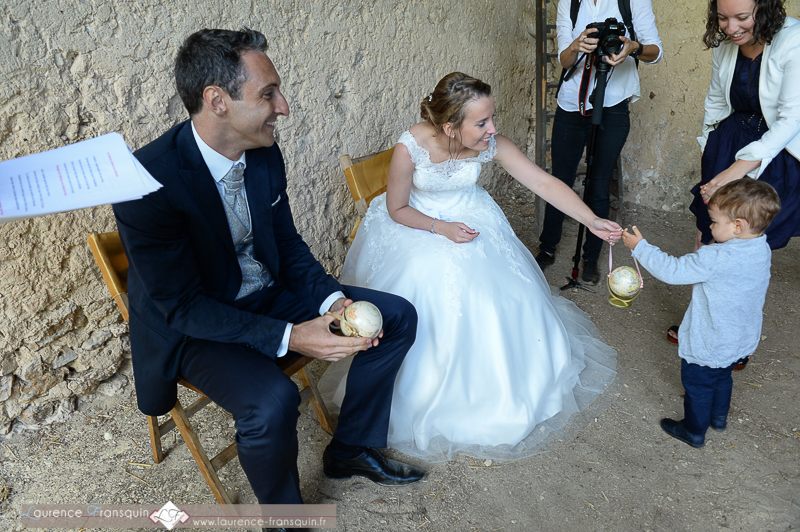 Cérémonie laïque et rituel du sable // Photo : Laurence Fransquin