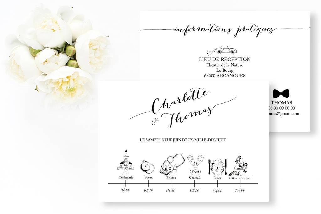 Sélection shopping : un mariage en blanc & noir !