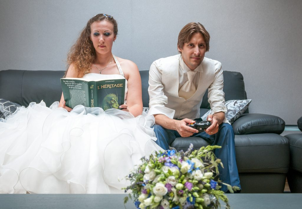 Nos photos de couple geek // Photo : UltraSpider Wedding