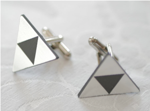 Boutons de manchette Triforce // Photo : La vie en HD