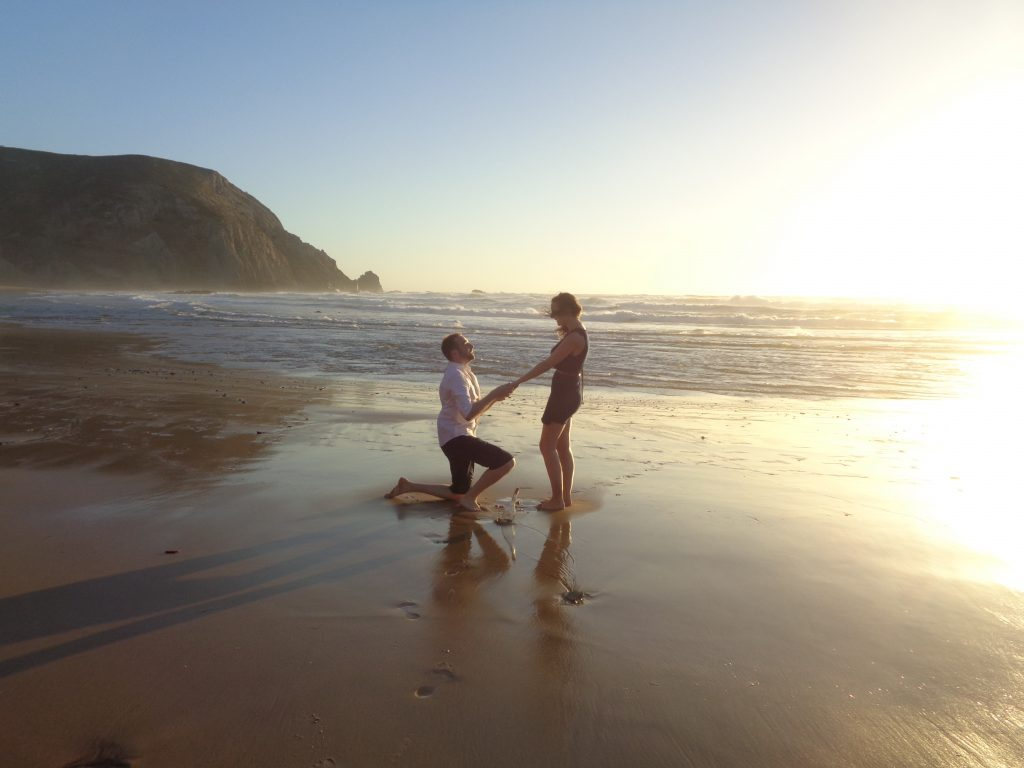 Ma demande en mariage très romantique en bord de mer