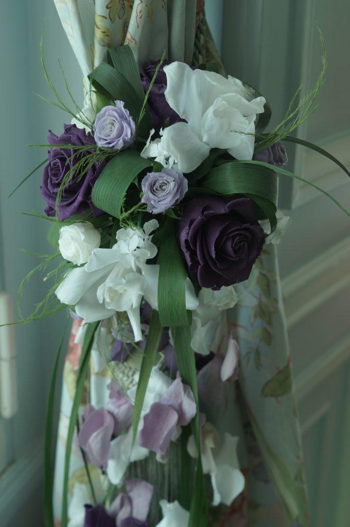 Bouquet de mariée en fleurs stabilisées - Crédit : La vie en HD