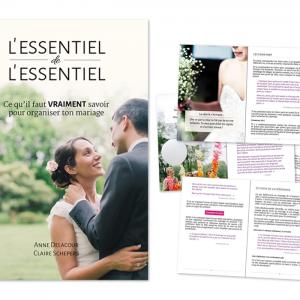 """Guide """"L'essentiel de l'essentiel : ce qu'il faut VRAIMENT savoir pour organiser ton mariage"""""""