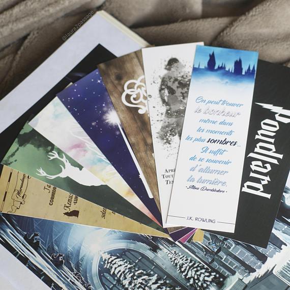 Ma wishlist Etsy : du bleu et du made in France - Marque parges Harry Potter avec citations