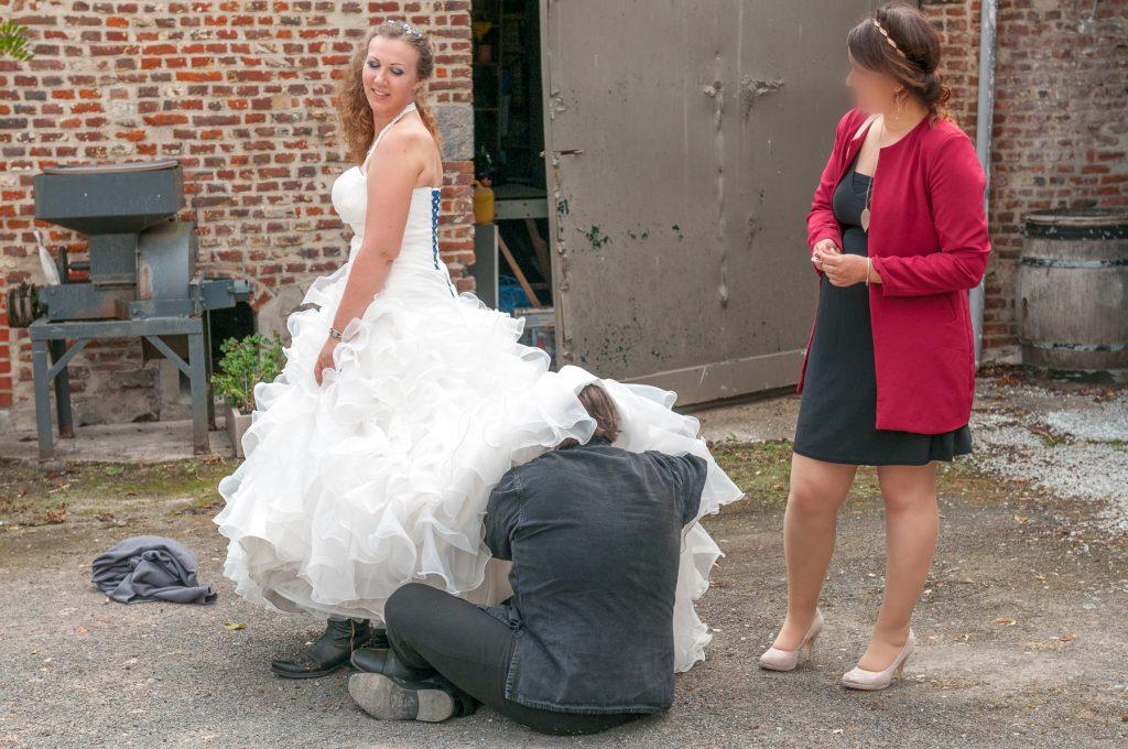 La préparation de notre spectacle d'entrée // Photo : UltraSpider Wedding