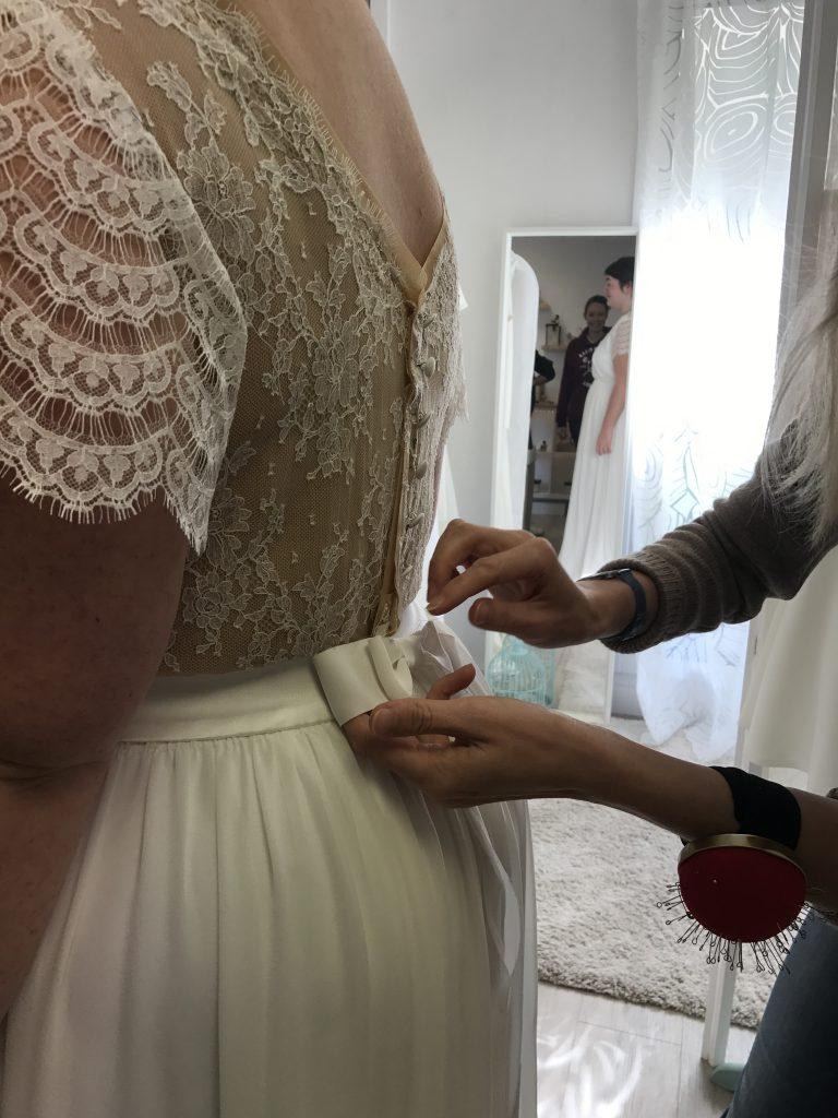 Les étapes de création de ma robe de mariée