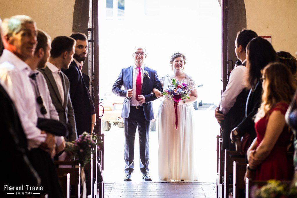 Notre entrée dans l'église très émouvante // Photo : Florent Travia