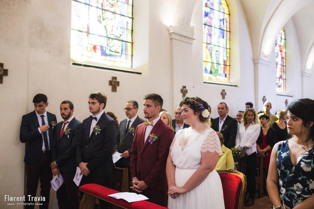 Cérémonie de mariage à l'église // Photo : Florent Travia