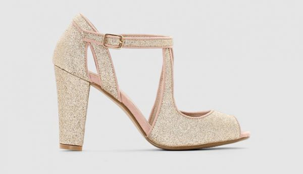 Chaussures de mariée à paillettes