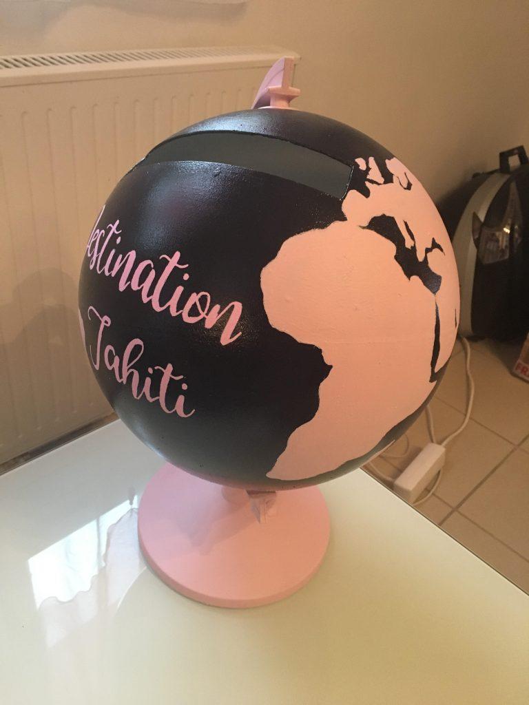 Mon urne globe DIY