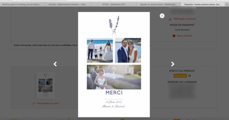 Mon mariage romantique en Provence : les remerciements