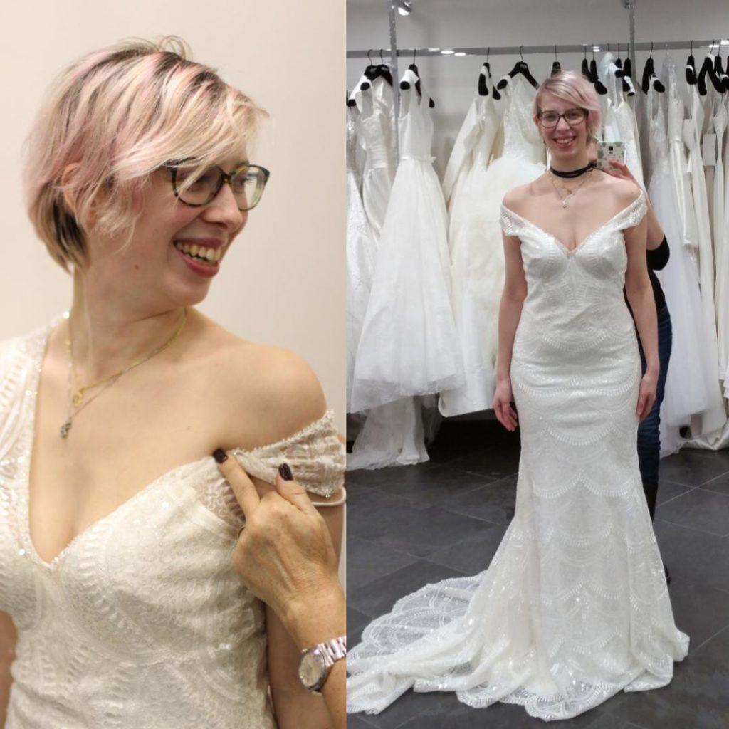 Nos essayages de robe en commun avec ma chérie