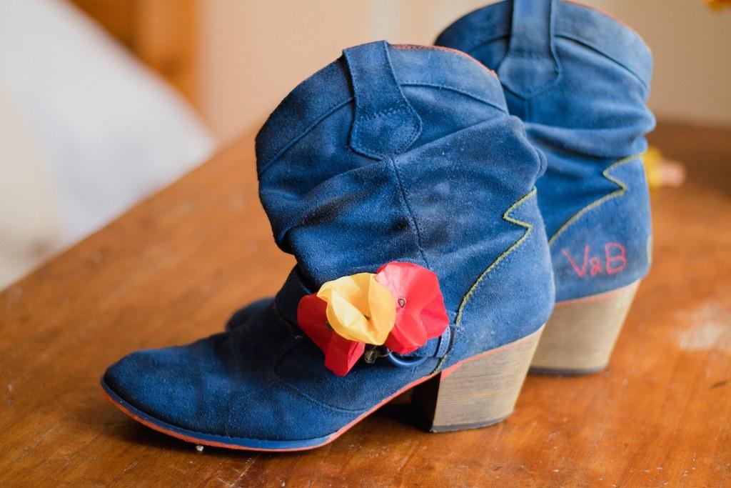 Mes chaussures de mariée customisées // Photo : Brian Photographe