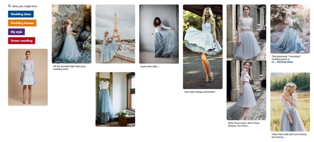 Ma recherche de robe de mariée courte et colorée