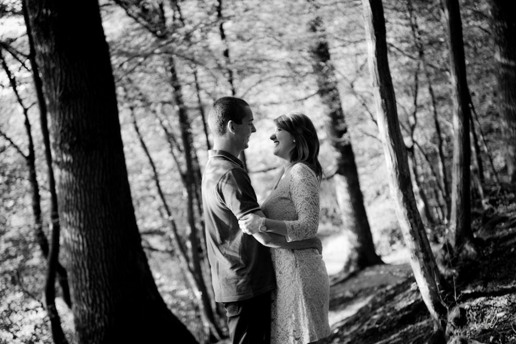 Notre séance engagement romantique dans les bois // Photo : Lucie Nicolas