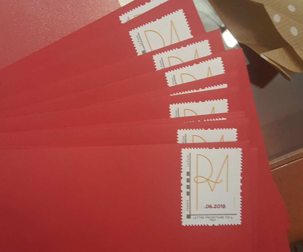 Enveloppes personnalisées Mlle Framboise