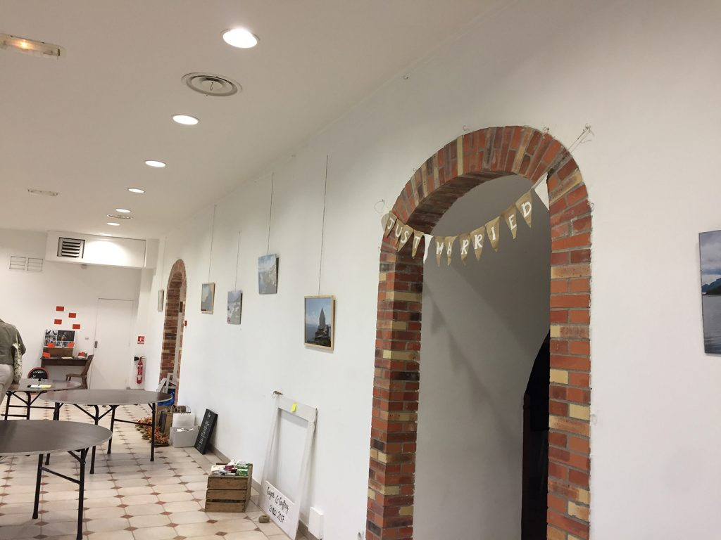 Installation de la décoration de mariage